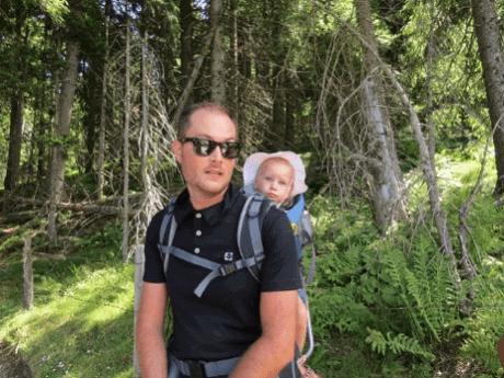 Freizeitpark mit Baby