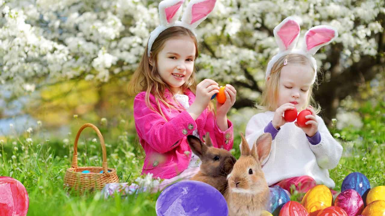 Ostereier suche zu Ostern im schloss thurn
