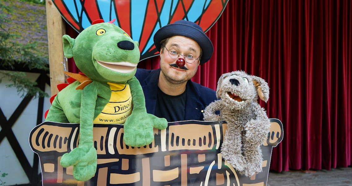 kinderclownshow mit dinolino und clown zozo